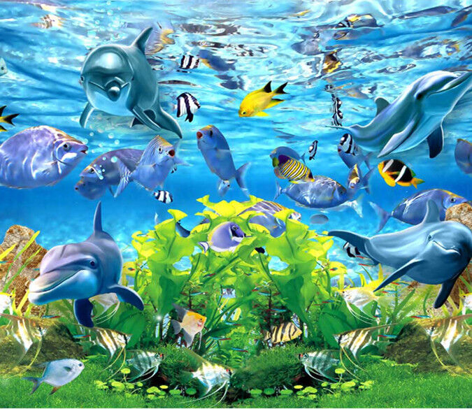 3D Delphin-Aquarium 724 Tapete Wandgemälde Wandgemälde Wandgemälde Tapete Tapeten Bild Familie DE Summer | Ausgezeichnetes Handwerk  | Große Auswahl  | Niedriger Preis und gute Qualität  176b1e
