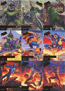 Spiderman-Fleer-Ultra-2017-Complete-Legacy-Chase-Card-Set-L1-12