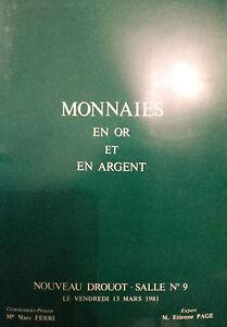 1981-CATALOGUE-DE-VENTE-ILLUSTRE-DROUOT-MONNAIES-EN-OR-ET-ARGENT