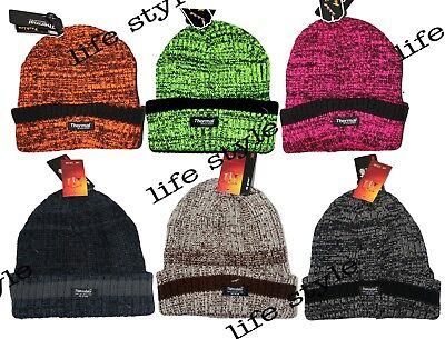 Adattabile Men's Ladies Thermal Insulation Kitted Warm Winter Hiking Chunky Beanie Hat Eccellente Nell'Effetto Cuscino