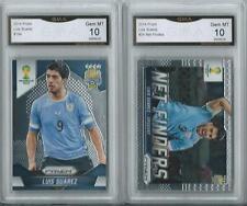 Lot of 2 Luis Suarez Uruguay 2014 Panini Prizm #24 #194 Graded Gem Mint 10
