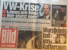 Bildzeitung vom 29.11.1996 * 20. 21. 22. Geburtstag Geschenk * VW Krise