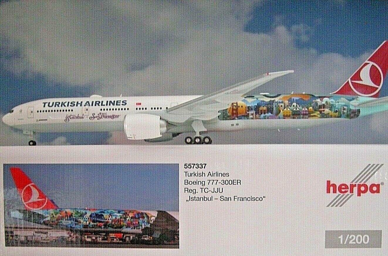 alta calidad Herpa Wings 1 200 Boeing 777-300ER 777-300ER 777-300ER Turco Airlines Tc-Jju Buyukada 557337  saludable