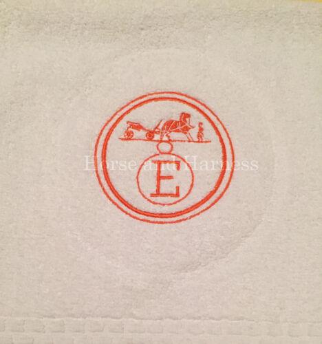 MONOGRAMMED HAND FINGER TIP TOWELS FOR BIRKIN 35 CM FANS SET OF 2 HOLIDAY GIFT