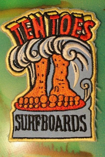 TEN TOES Noserider Longboard Surfboards Original Rare Vintage 60's Surfing PATCH