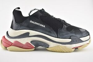 6b69300f072c NIB Balenciaga Triple S Sneaker Black Leather Speed Flat Trainers 43 ...