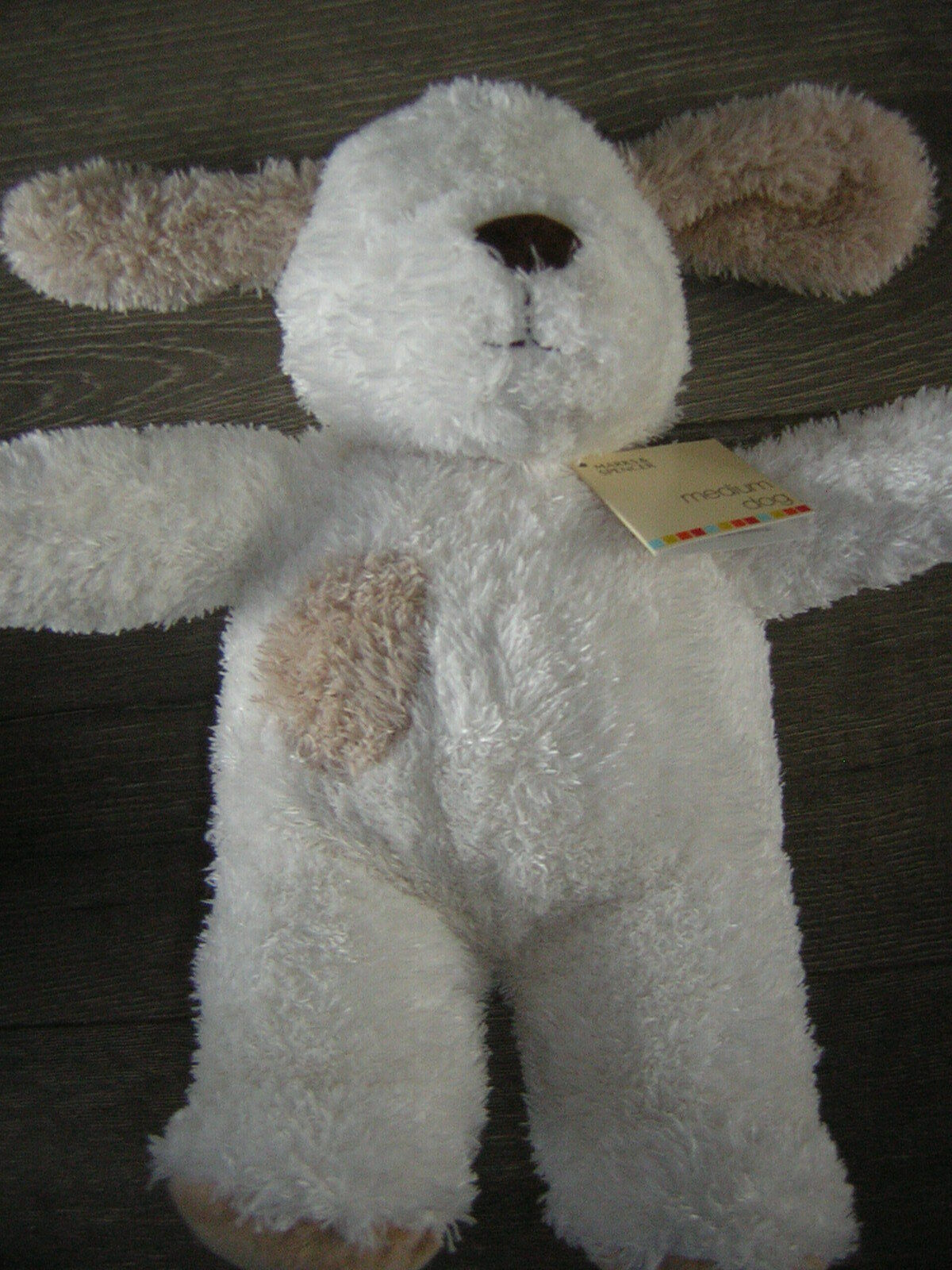 MARKS AND SPENCER CREAM TAN DOG SOFT TOY