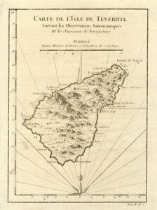 Map Of Spain Tenerife.Carte De L Lsle De Tenerife Tenerife Canary Islands Spain