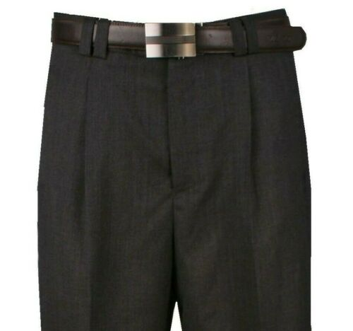 Details about  /Men/'s Wide Leg Pants One Pleated 100/% Wool color Gray Art.666115