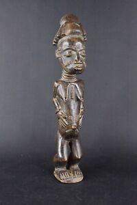 Statue-africaine-baoule-de-Cote-d-039-Ivoire-en-bois-2017-486