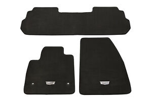 SMARTLINER Custom Fit Floor Mats 3 Row Liner Set Black for 2020 Cadillac XT6 with 2nd Row Bucket Seats