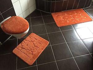 badgarnitur badteppich badezimmergarnitur set 3 tlg angebot f r h nge wc ebay. Black Bedroom Furniture Sets. Home Design Ideas