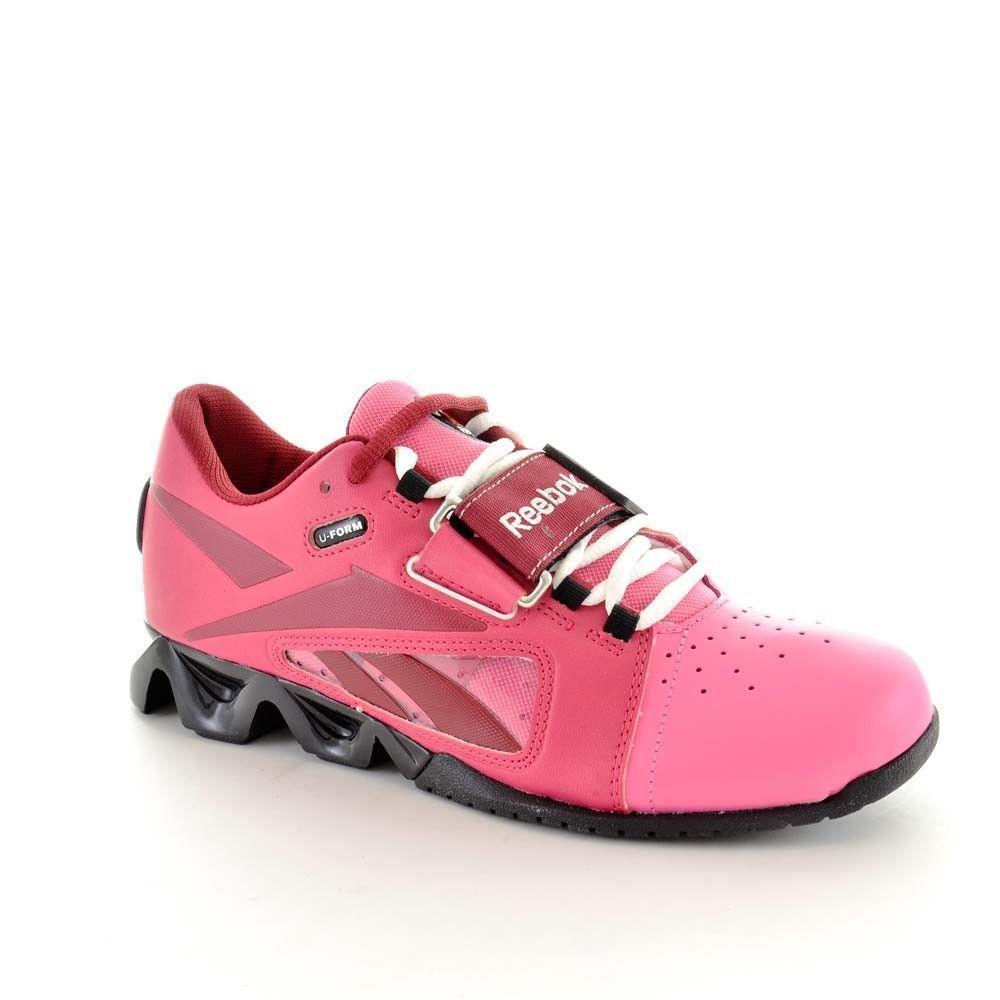 Reebok Womens Crossfit U-Form Lifter shoes Red Pink Black US 6 EU 36 FAST  F27