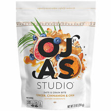 OJAS studio Date & Grain Bites, Ginger Cinnamon and Chia, 7.9 oz Bag