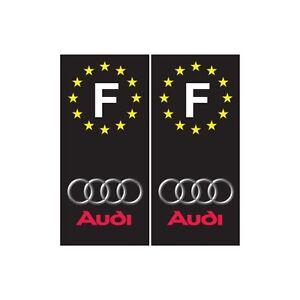 Audi-F-fond-noir-voiture-autocollant-plaque-droits