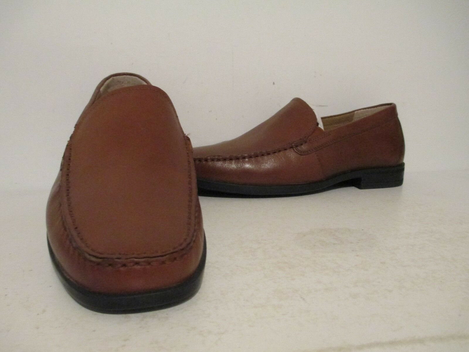 Nunn Bush  Moc Uomo Glenwood 84514 Leder Moc  Toe Slip On Loafer Cognac Wide b6ebfd
