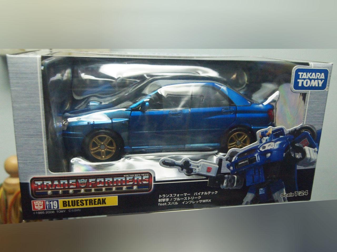 Takara BT-19 Transformers Binaltech blustreak Subaru Impreza WRX Gunner New