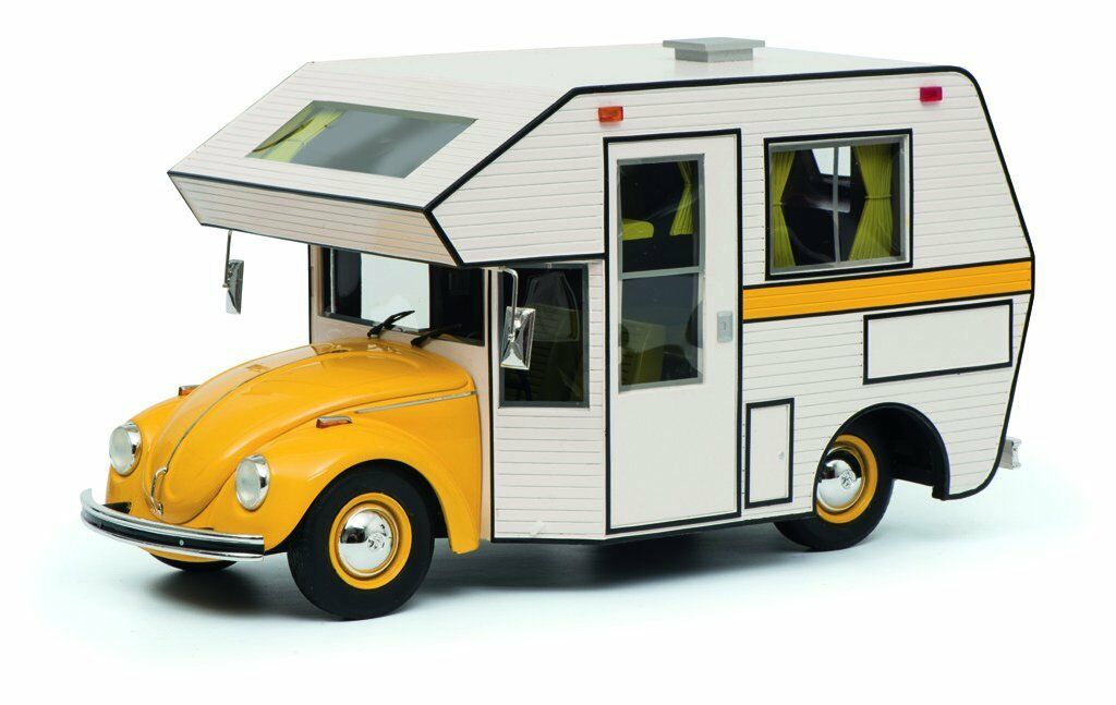 Schuco 1 18 Volkswagen Beetle Motorhome Yellow 450011300
