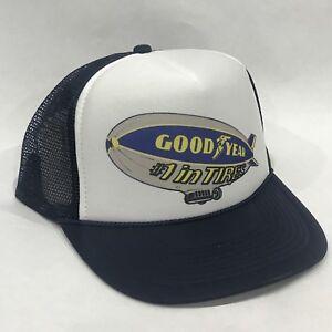 e96396bba41c6c Good Year Tires Blimp Promo Trucker Hat Vintage 80's Mesh Back ...