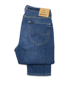 Mens-Lee-Arvin-Regular-Slim-Tapered-Blue-Legacy-Jeans-RRP-85-Seconds-L-40