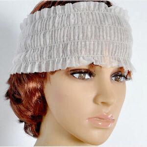 50Pcs-Elastic-Disposable-Spa-Headbands-Non-woven-Headband-Makeup-Hairband-GO9X