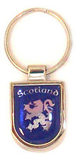 Scottish Small Blue Silver Lion Rampant Scotland Shield Purse Keyring Charm