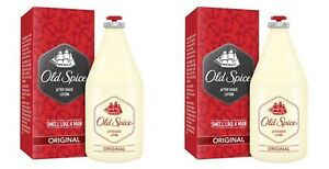 Old-Spice-2x-150ml-Aftershave-Lotion-Original-For-Men-Classic-White-Bottle-FShip