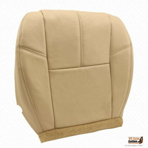 2007 2008 Chevy Tahoe LT LS Z71 Driver /& Passenger Bottom Leather Seat Cover Tan