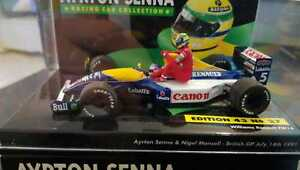 MINICHAMPS-1-43-F1-WILLIAMS-FW14-MANSELL-TAXI-AYRTON-SENNA-BRITISH-GP-1991-RARE