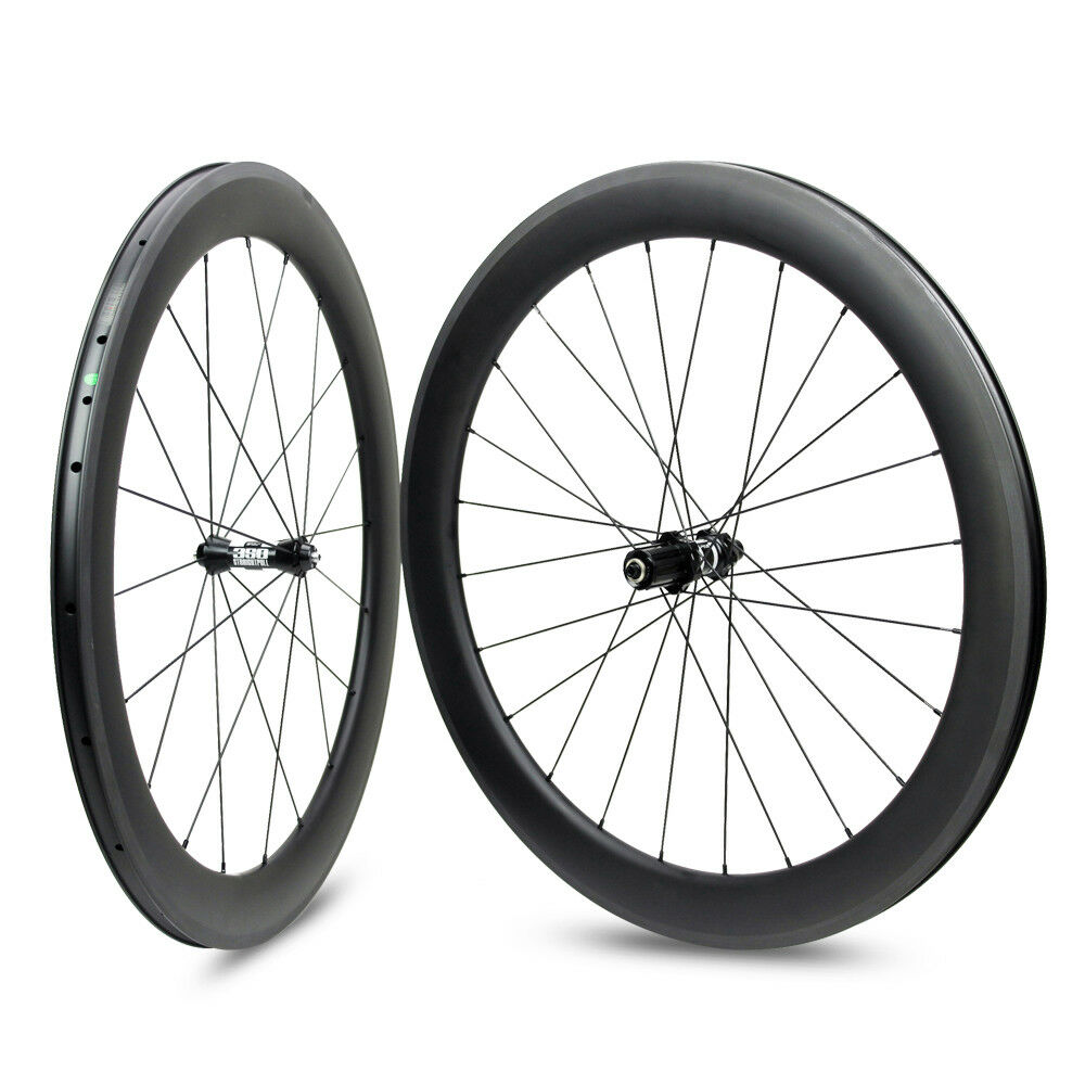 30 38 47  50 60 88mm Tubular  Clincher  Tubeless Road Bike Carbon Wheelset  simple and generous design