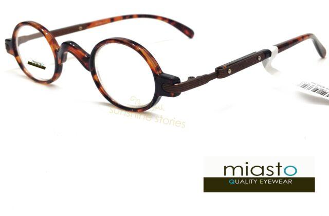 MIASTO Retro Mini Oval Round RX Optical Spectacle Eyeglasses Frames ...
