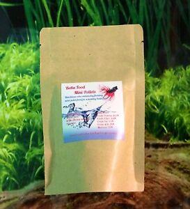 Mini floating Pellets Betta Pro Fish Food Halfmoon Crowntail Plakat Vailtail 29g