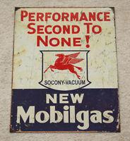 """Mobil Gas 12.5"""" x 16"""" Vintage Style Metal Tin Petroleum Garage Texaco Sinclair"""