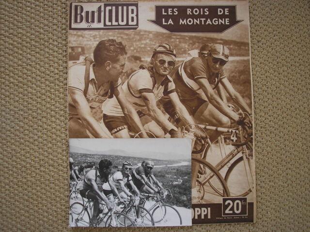 FAUSTO COPPI ROBIC LAZARIDES FOTO ORIGINALE TOUR DE FRANCE 1949 COVER BUT CLUB