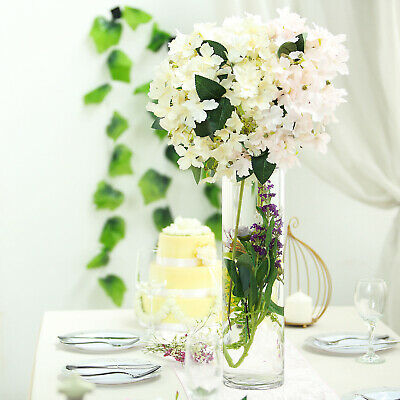 """4 pcs 20/"""" tall Clear GLASS Trumpet VASES Wedding Party CENTERPIECES Supplies"""