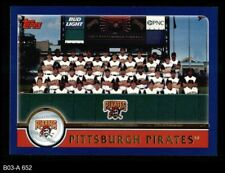 2003 Topps #652 Pittsburgh Pirates Team Nm/mt