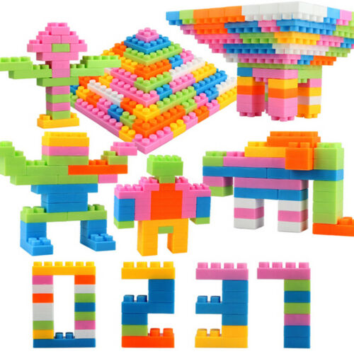 96Pcs Plastic Children Kid Puzzle Educational Building Blocks Bricks Toy   US