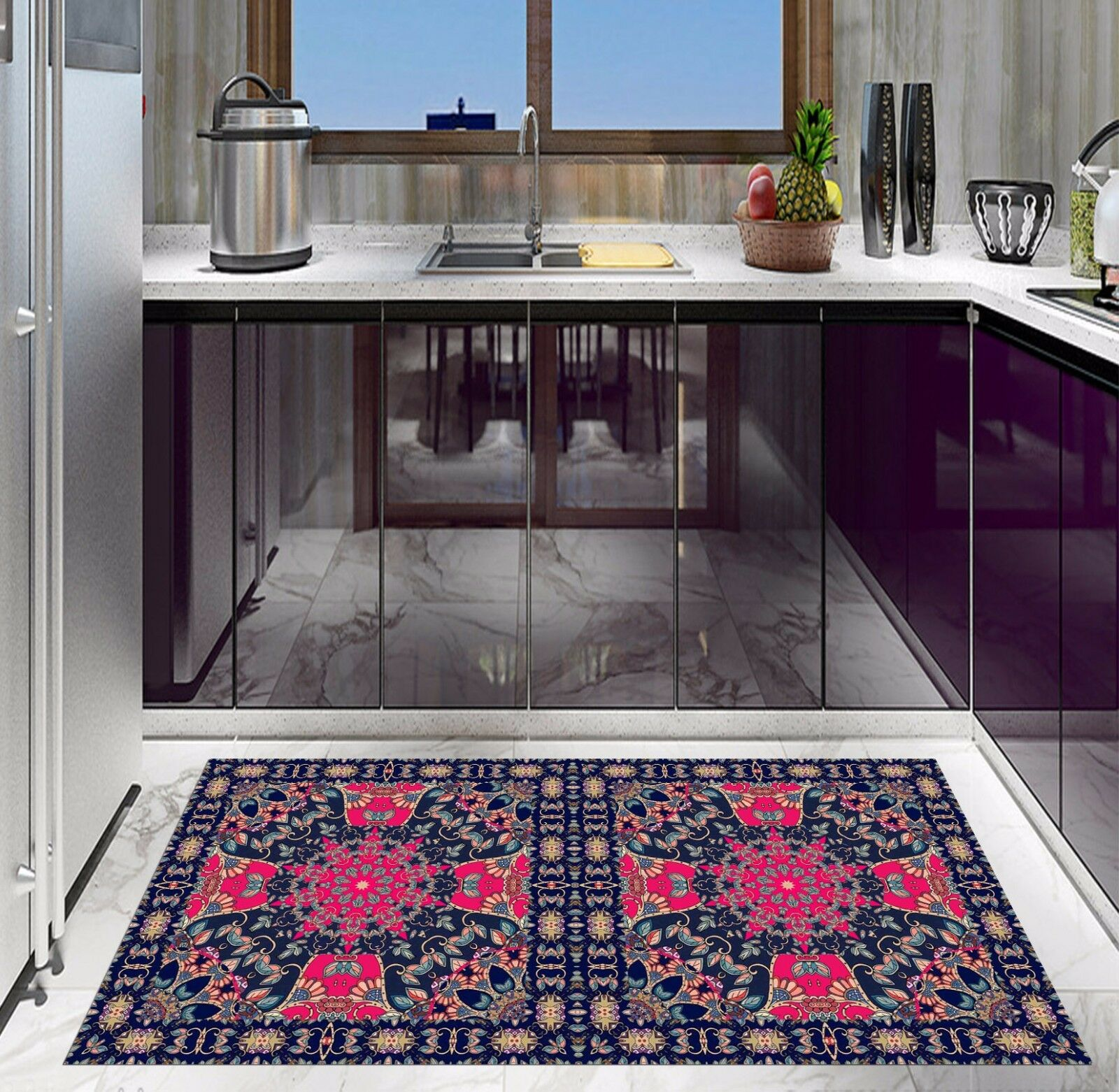 3D Symmetry 623 Kitchen Mat Floor Murals Wall Print Wall AJ WALLPAPER AU Kyra