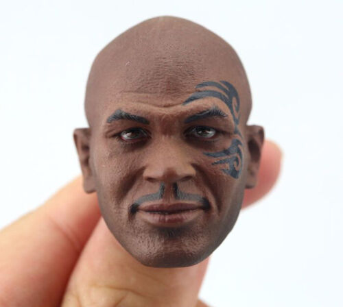 Toy 1//6 Male Head Mike Tyson Sculpt Fighting Champion Carved Model Tattoo Ver