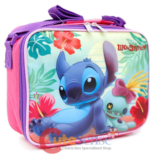 Beach Disney Lilo and Stitch Large School Backpack Insulated Lunch Bag 2pc Set