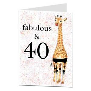40th Birthday Card Fabulous 40 For Women Sister Best Friend Funny