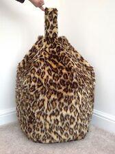 COVER ONLY Bean Bag Faux Fur Luxurious Children's Leopard 3 Cubic FEET Size New.