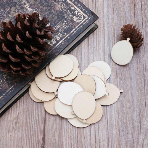 25pcs Laser Cut Wood Balloon Embellishment Wooden Shape Craft Wedding Decors