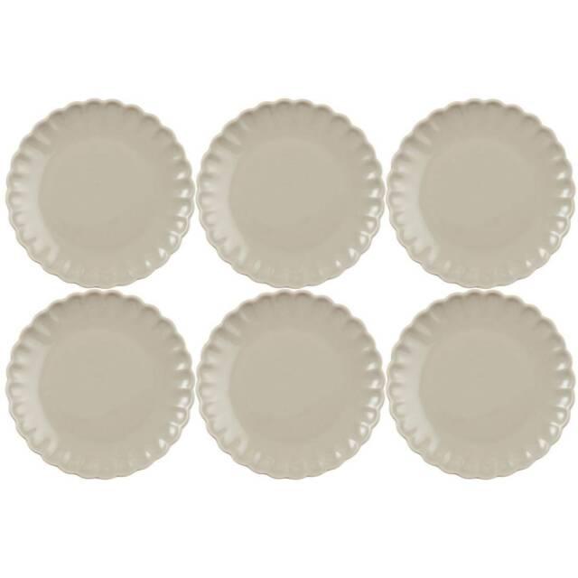 IB Laursen Kuchenteller Mynte beige Keramik Teller Latte Frühstücksteller