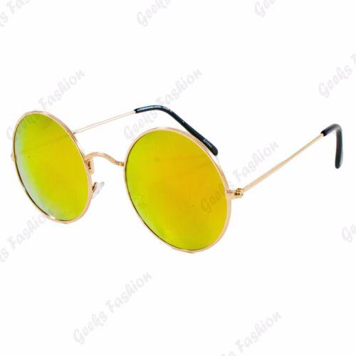 John Lennon Overiszed Womesn Mens Round Mirrored  Lens Driving Retro Sunglasses