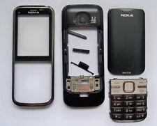Black Housing cover Case fascias facia faceplate For Nokia C5 C5-00 full cover