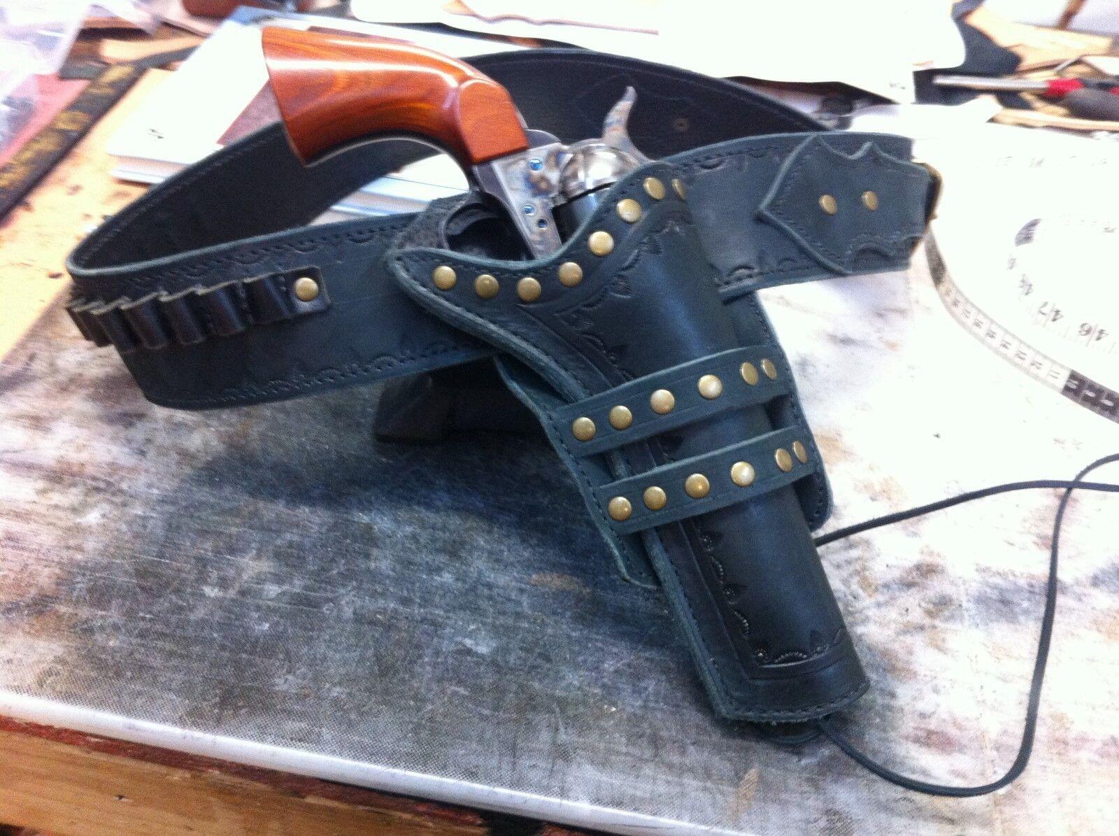 Funda occidental y cinturón de Pistola Mano Fileteado Vaquero Acción