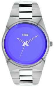 STORM-Men-039-s-Exclusive-Blue-Dial-Stainless-Steel-Strap-Analogue-DIsplay-Watch