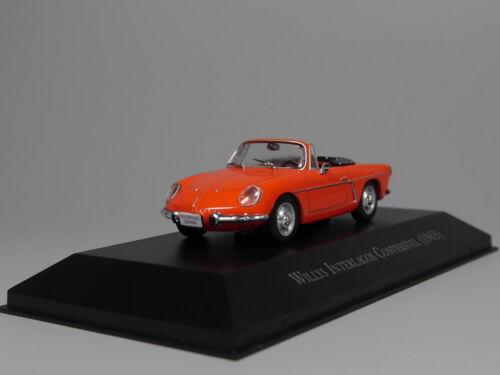 ixo 1:43 Willys Interlagos Conversivel 1963 Diecast model car
