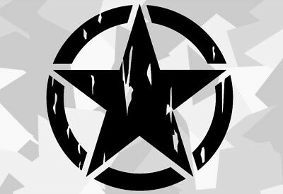 2x US Army estrella retre sticker coche car pegatinas rata Armex Star rythm ex